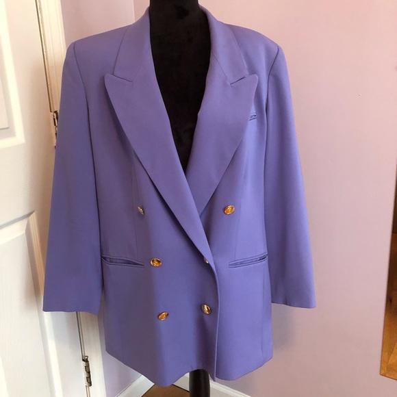 Austin Reed Jackets Coats Austin Reed Periwinkle Double Breasted Blazer Poshmark
